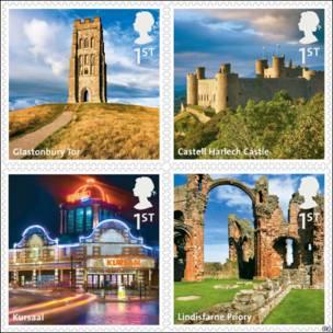 英国景点邮票