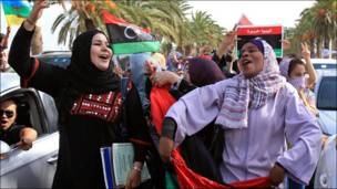 Dadka reer Libya oo u dabaaldagaya dhimashada