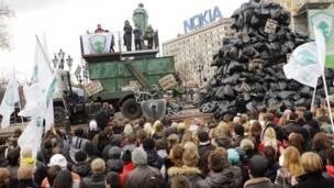 Митинг экологов на Пушкинской площади