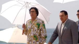 Mubarak y Gadafi