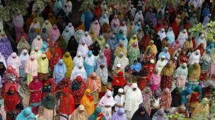 صلاة العيد في أحمد آباد