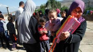 لاجئون سوريون في وادي خالد