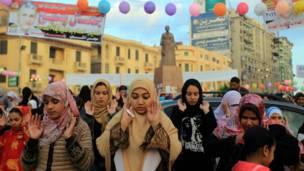 صلاة العيد في المنصورة