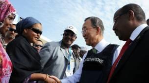 Sawirro booqashada Ban Ki Moon