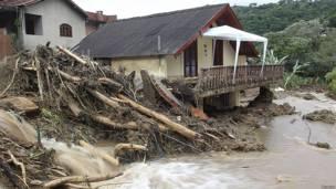 inundaciones en el estado de Rio de Janeiro