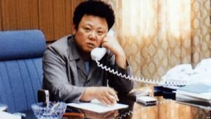 Một hình ảnh hiếm hoi của Kim Jong-il lúc làm việc