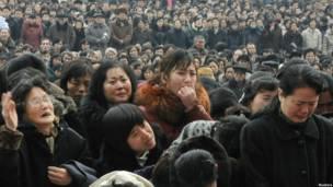 Жители КНДР скорбят в связи со смертью Ким Чен Ира