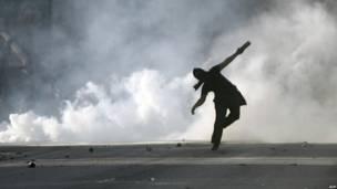Разгон демонстрации протеста в Афинах