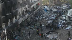 انفجار بحي الكرادة في بغداد