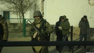 Военные на улицах Женеозена