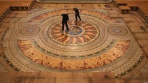 Мозаичный пол в Ливерпуле