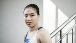 لاعبة الغطس الصينية وو مينيكسيا