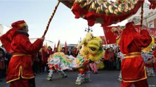 Празднования китайского Нового года в Мадриде