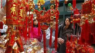 Рынок новогодних подарков в Гонконге