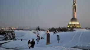 В Киеве температура упала до -15 С