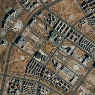 Ordos, China (imagem: DigitalGlobe / www.digitalglobe.com)