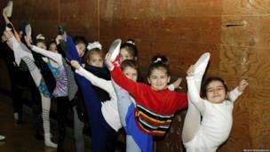 ژیمناستهای جوان تاجیکی