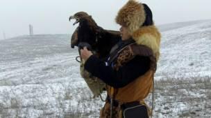 شکار عقاب، قزاقستان