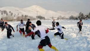 راگبی در برف، افغانستان