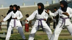تکواندوی زنان، افغانستان
