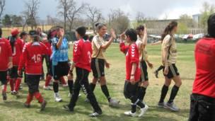 فوتبال زنان، کابل، افغانستان