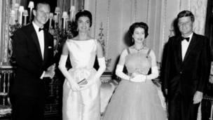 Королевская чета с четой Кеннеди