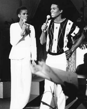 Whitney Houston y Jermaine Jackson