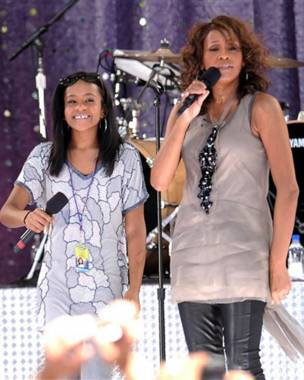 Whitney Houston y su hija