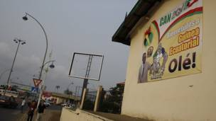 Póster del presidente Teodoro Obian en