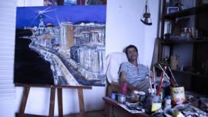 El pintor Luis Royo del Pozo