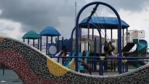 Niños jugando en Mongomo