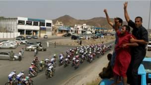 На велогонках в Омане