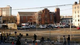 Vista de la iglesia bautista New Hope, Newark