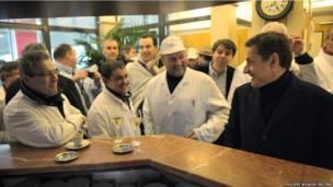 Президент Саркози в предвыборной поездке