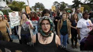 Марш протеста в Калифорнии