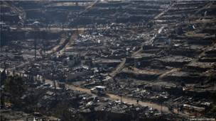 Сгоревший лагерь бирманских беженцев в Таиланде