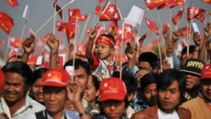 أنصار زعيمة المعارضة البورمية
