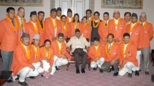 बेइजींग ओलिम्पिक्समा सहभागी नेपाली टोलीलाई राष्ट्रपति रामवरण यादवले विदाई