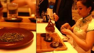 代表团向参与推介会的海内外人士展示了富有浓郁风情的茶道。