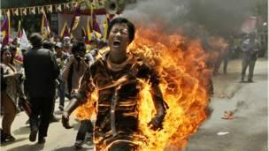 تبتیوں کا مظاہرہ