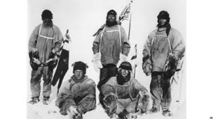Capitán Scott, Edward Wilson, Henry Bowers, Lawrence Oates y Edgar Evans