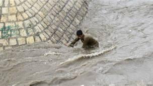 Наводнение в Сане