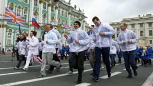 احتفال في سان بطرسبرغ
