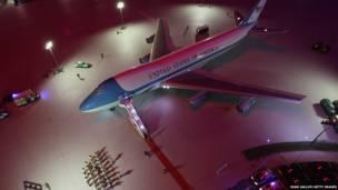 Модель президентского самолета