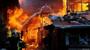 Пожар в Маниле