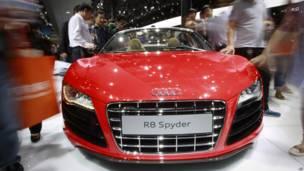 Audi R8 Spider на Международной автомобильной выставке в Пекине
