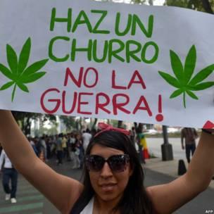 Manifestante en Ciudad de México