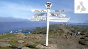Signpost Land's End, Lands End, Cornwall, England