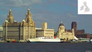 Three Graces, vista do deque do Mersey Ferry, Liverpool  (Fotos: LOCOG/VisitBritain.com)