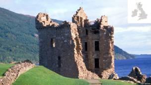 उरकुहार्त क्यासल, हाइलाण्ड, स्कटल्याण्ड।